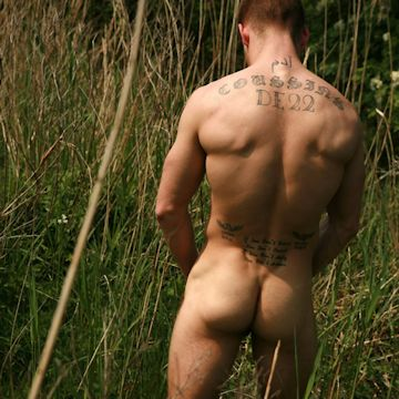 Jason naked in nature